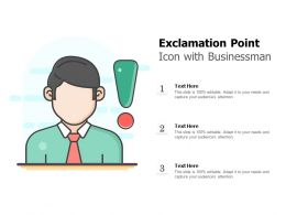 Exclamation Point Icon With Businessman