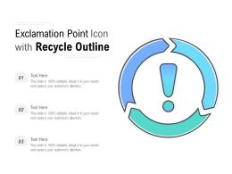 Exclamation Point Icon With Recycle Outline