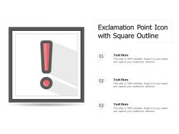Exclamation Point Icon With Square Outline