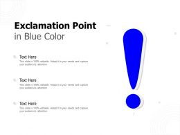 Exclamation Point In Blue Color