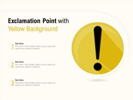Exclamation Point With Yellow Background