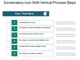 Exclamatory Icon With Vertical Process Steps