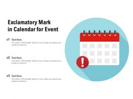 Exclamatory Mark In Calendar For Event