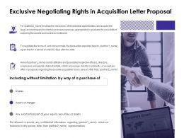 Exclusive Negotiating Rights In Acquisition Letter Proposal Securities Ppt Slides