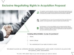 Exclusive Negotiating Rights In Acquisition Proposal Ppt Powerpoint Presentation Pictures Example