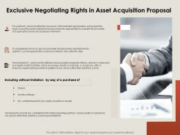 Exclusive Negotiating Rights In Asset Acquisition Proposal Ppt Powerpoint Presentation Show Deck
