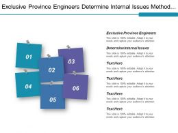 Exclusive Province Engineers Determine Internal Issues Methods Prevention