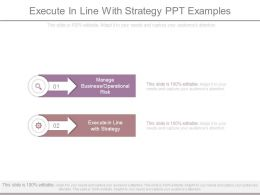 Execute In Line With Strategy Ppt Examples