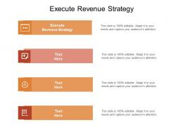 Execute Revenue Strategy Ppt Powerpoint Presentation Slides Template Cpb