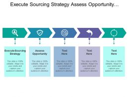 Execute Sourcing Strategy Assess Opportunity Create Requisition Route Approval
