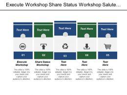 Execute Workshop Share Status Workshop Salute Team Development Management