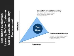 Execution Evaluation Learning Define Customer Needs Evaluate Industry Environment