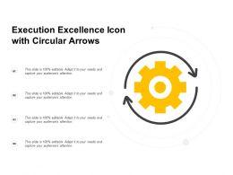 Execution Excellence Icon With Circular Arrows