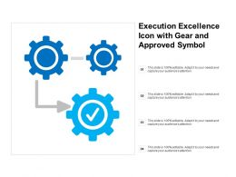 Execution Excellence Icon With Gear And Approved Symbol