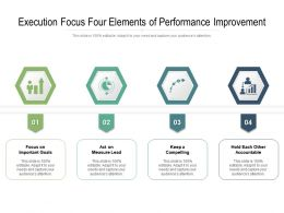 Execution Focus Four Elements Of Performance Improvement