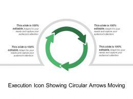 Execution Icon Showing Circular Arrows Moving