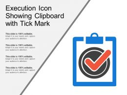 Execution Icon Showing Clipboard With Tick Mark