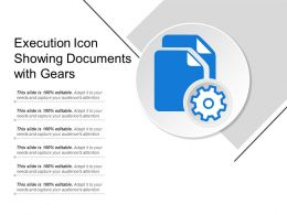 Execution Icon Showing Documents With Gears