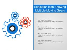 Execution Icon Showing Multiple Moving Gears