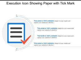 Execution Icon Showing Paper With Tick Mark