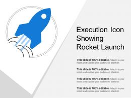 Execution Icon Showing Rocket Launch