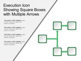 Execution Icon Showing Square Boxes With Multiple Arrows