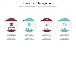 Execution Management Ppt Powerpoint Presentation Slides Visual Aids Cpb