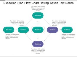 Execution Plan Flow Chart Having Seven Text Boxes