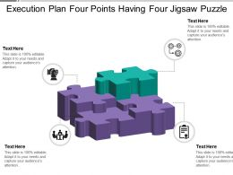 Execution Plan Four Points Having Four Jigsaw Puzzle