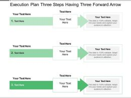 Execution Plan Three Steps Having Three Forward Arrow