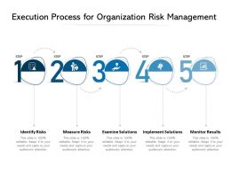 Execution Process For Organization Risk Management