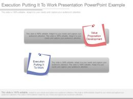 Execution Putting It To Work Presentation Powerpoint Example