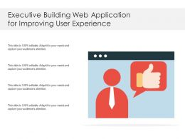 Executive Building Web Application For Improving User Experience
