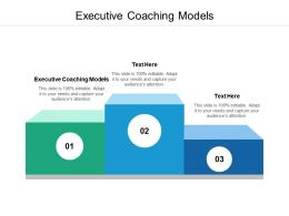Executive Coaching Models Ppt Powerpoint Presentation Gallery Rules Cpb