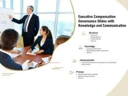 Executive Compensation Governance Slides With Knowledge And Communication