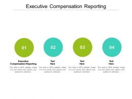 Executive Compensation Reporting Ppt Powerpoint Presentation Model Design Ideas Cpb