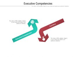 Executive Competencies Ppt Powerpoint Presentation Inspiration Icon Cpb