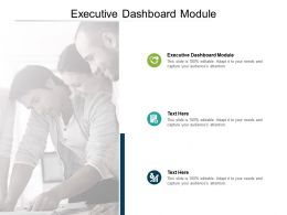 Executive Dashboard Module Ppt Powerpoint Presentation Outline Good Cpb