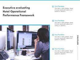 Executive Evaluating Hotel Operational Performance Framework