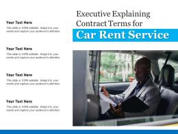 Executive Explaining Contract Terms For Car Rent Service