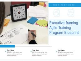 Executive Framing Agile Training Program Blueprint