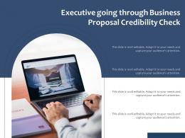 Executive Going Through Business Proposal Credibility Check