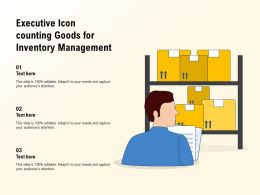 Executive Icon Counting Goods For Inventory Management