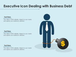 Executive Icon Dealing With Business Debt