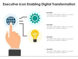 Executive Icon Enabling Digital Transformation