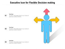 Executive Icon For Flexible Decision Making