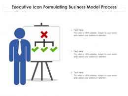 Executive Icon Formulating Business Model Process