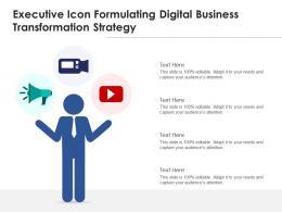 Executive Icon Formulating Digital Business Transformation Strategy