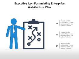 Executive Icon Formulating Enterprise Architecture Plan