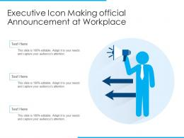 Executive Icon Making Official Announcement At Workplace